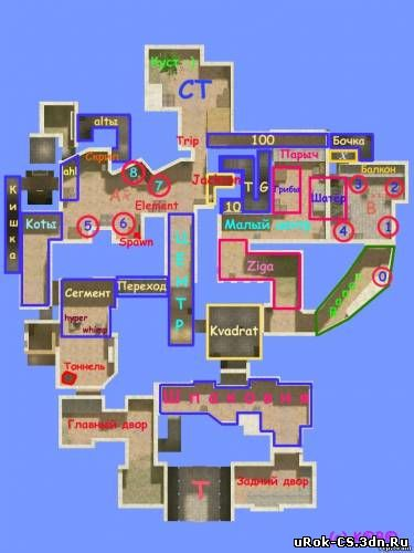 Обозначение мест на карте de_tuscan